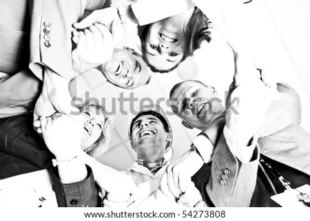 A group of young people together - stock photo
