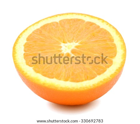 A half cut orange fruit - stock photo