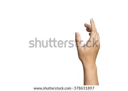 A hand is reaching out so it can shake hands. - stock photo