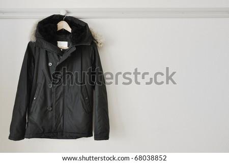 A hanged coat - stock photo