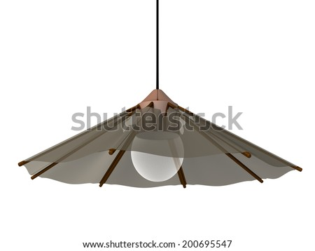 A hanging lamp with a modern look to it - stock photo