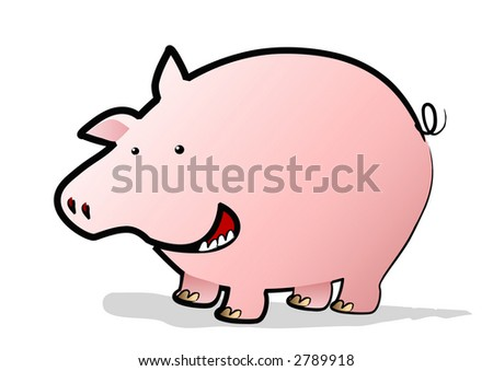 A Happy Pig in the Year of the Pig - stock photo