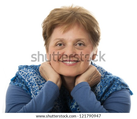a happy senior woman - over sixty years old - stock photo