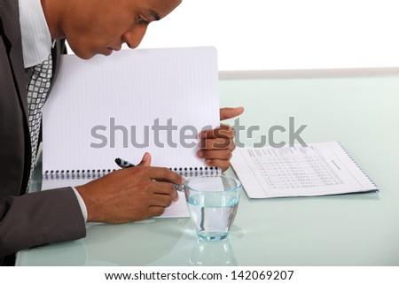 A hard-working man - stock photo