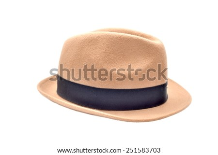 A hat isolate on white background. - stock photo