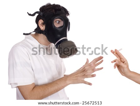 A healthy person refusing to smoke - stock photo
