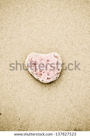 A heart of stone - stock photo