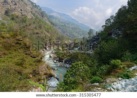 A Himalayan Valley - stock photo
