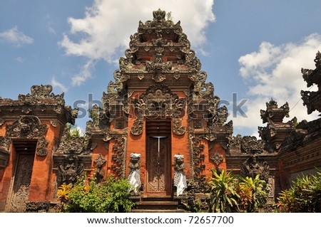 A hinduistic temple in Ubud, Bali - stock photo