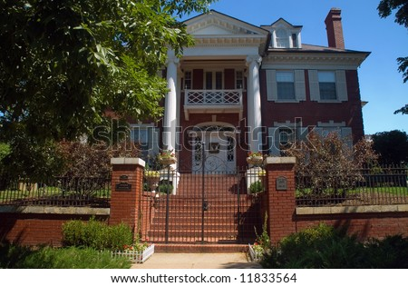 A historical mansion in Denver's wealthy country club district - stock photo