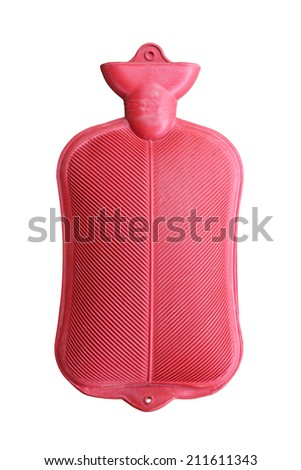 A hot water bottle isolated on white background - stock photo
