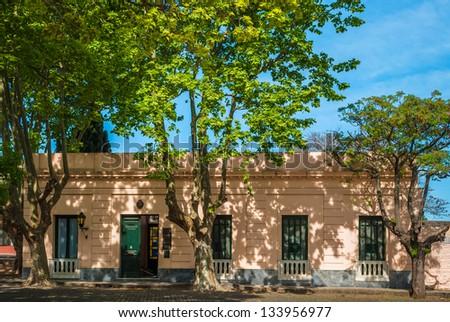 A house in Colonia del Sacramento, Uruguay - stock photo