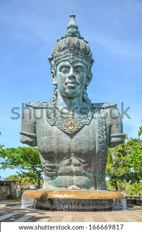 a huge statue of Vishnu in Bali - stock photo
