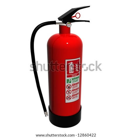 A Hydro Fire extinguisher - stock photo