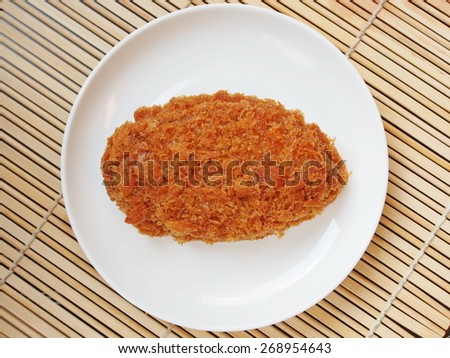 A Japanese deep fried dish , Japanese croquette , Korokke  - stock photo