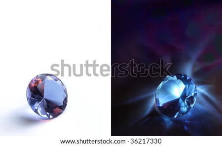 A jewel is daily and nightly surveys. Contrasting of light and shade is in different terms - stock photo