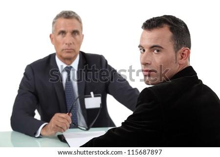 A job interview - stock photo