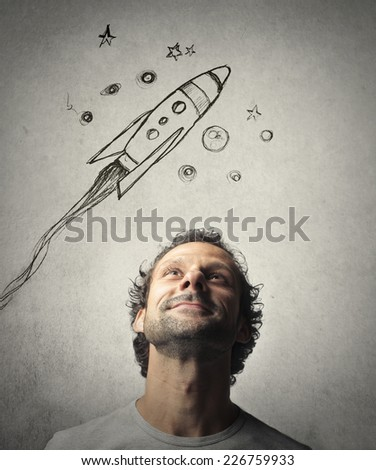 A journey into the space  - stock photo