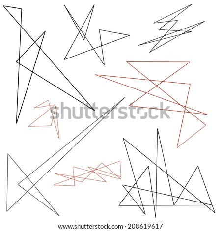 A JPG set of abstract geometric line designs - stock photo