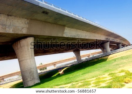A junction with few  overpasses - stock photo
