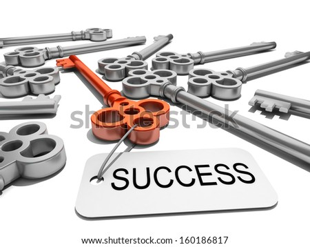 "a key with word ""success"" , business concept  - stock photo"