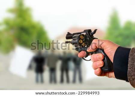 a killer points on the political meeting  - stock photo