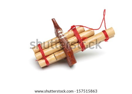 a kind of reed mouth organ in northeastern Thailand                       - stock photo