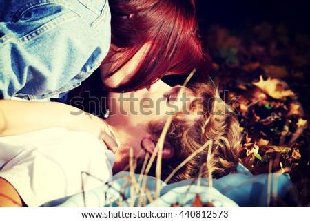 A kiss. - stock photo
