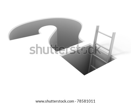 A ladder leading from the problem - stock photo