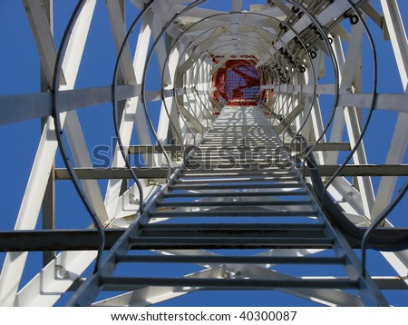 a ladder of success - stock photo