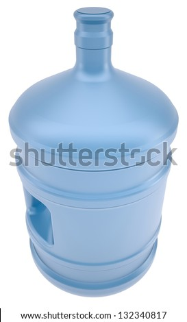 A large bottle of water. Isolated render on a white background - stock photo