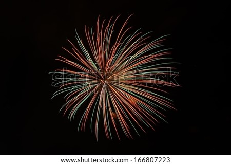 A large Brightly colorful Fireworks Display event - stock photo