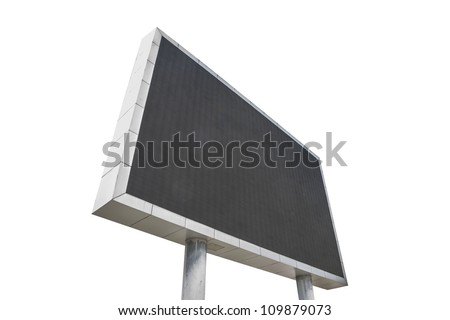 A large LED screen isolated with white background - stock photo
