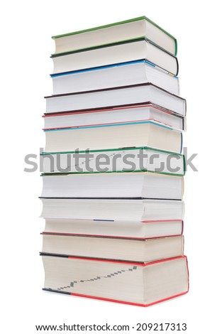 A large pile of books, school books, - stock photo