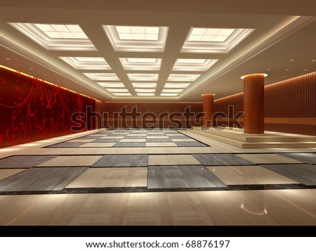 A large reception room.render - stock photo