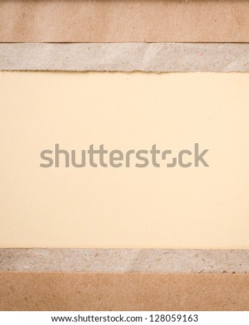 a letter on brown paper background - stock photo
