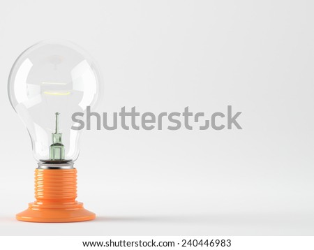A Light bulb, isolated, Realistic photo image - stock photo