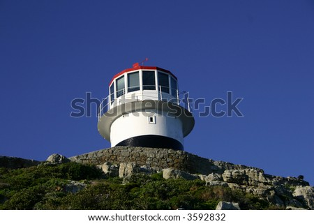 a lighthouse near the cape of good hope in South Africa - stock photo