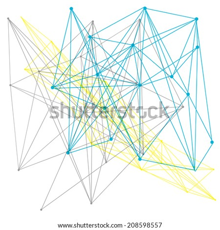 A linear geometric pattern background or design element - stock photo