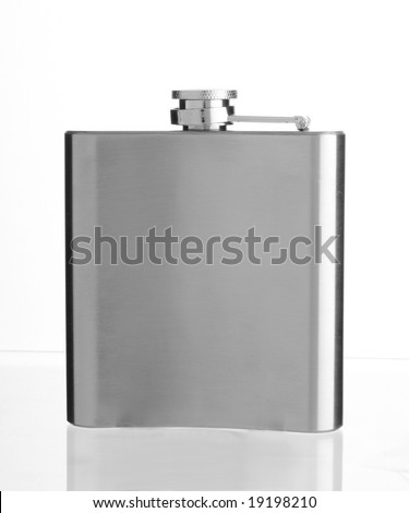A liquor bottle in a white back - stock photo