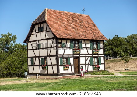 A little piece of Alsace in Texas - stock photo