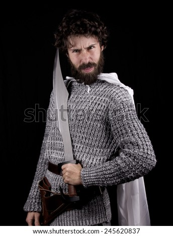 a little warrior greek - stock photo
