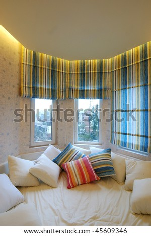 A Local European-style bedroom - stock photo