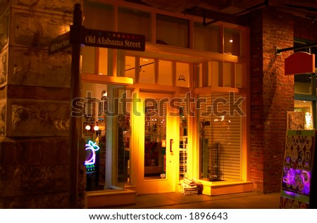 A local store with colorful front door. More with keyword Series004