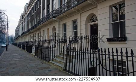 A london street - stock photo