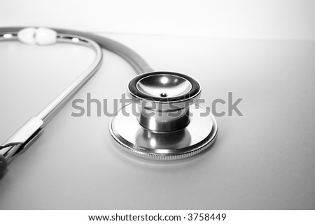 A lone stethoscope - stock photo