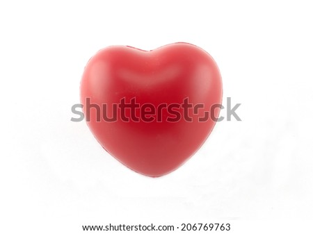 a lonely heart - stock photo