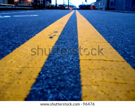 A Long Road - stock photo