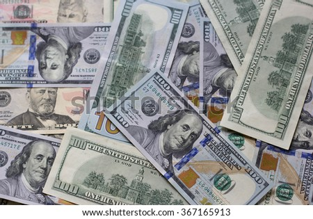 A lot of cash US dollars - stock photo