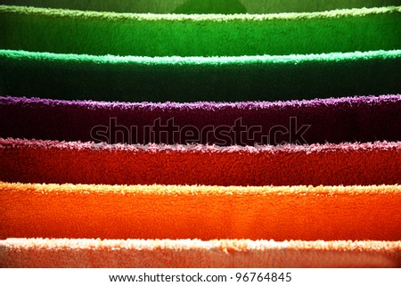 A lot of colored towels - stock photo